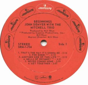 MERCURY - DENVER JOHN - W MITCHELL TRIO 73 C