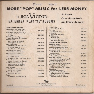 MILLER GLENN EP 13 - 1957 VARIOUS B