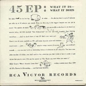 MILLER GLENN EP 15 - 1955 VARIOUS B