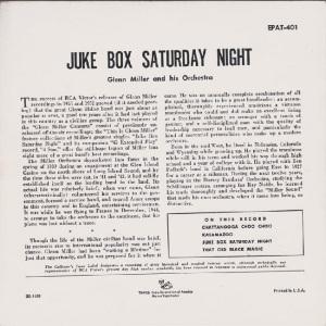 MILLER GLENN EP 2 1952 B
