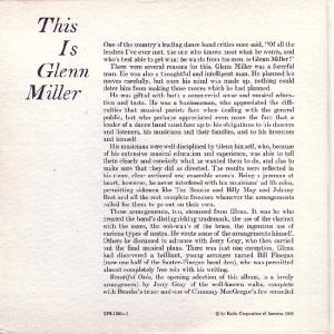 MILLER GLENN EP 7 - 1956 B