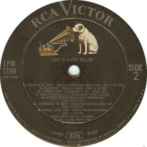 MILLER GLENN - RCA 1190 B