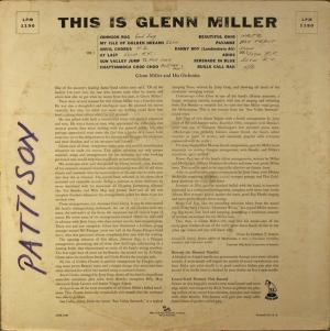 MILLER GLENN - RCA 1190 D