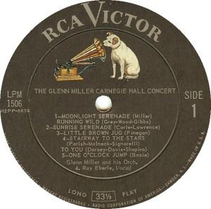 MILLER GLENN - RCA 1506 A