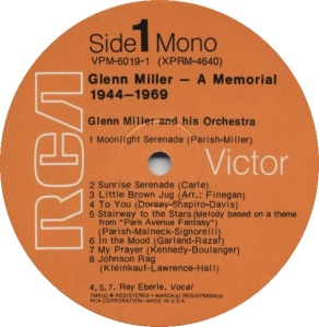 MILLER GLENN - RCA 4640 A