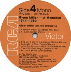 MILLER GLENN - RCA 4640 E