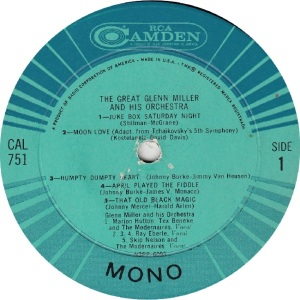 MILLER ORCHESTRA GLENN - RCA CAMDEN 751 - GREAT RAA (1)