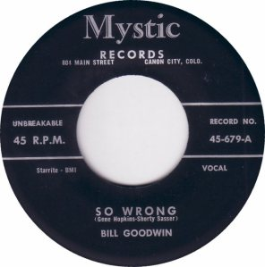 MYSTIC 679 - GOODWIN BILL - A