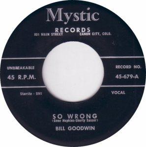 MYSTIC 679 - GOODWIN BILL - A