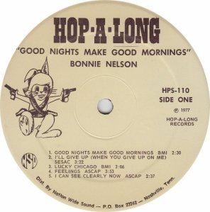 NELSON BONNIE - HOP A LONG101 - RA (1) A