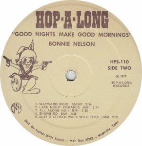 NELSON BONNIE - HOP A LONG101 - RA (2) A