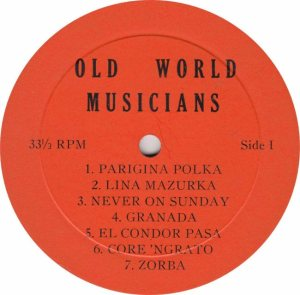 OLD WORLD - OW RA