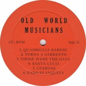 OLD WORLD - OW RB