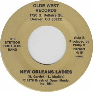 OLDE WEST XX - STETSON BROS - B