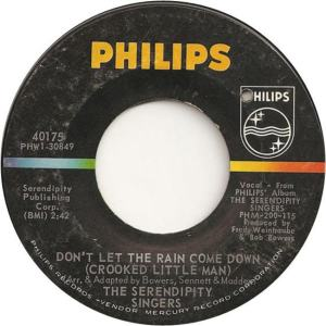 Philips 40175 - Serendipity Singers - Don't Let the Rain Come Down