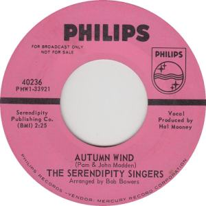 Philips 40236 DJ - Serendipity Singers - Autum Wind