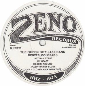 QUEEN CITY JAZZ BAND - ZENO 849 - RA