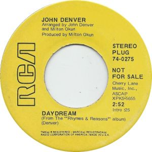 RCA 1969 OCT - 275 - DENVER JOHN DJ A