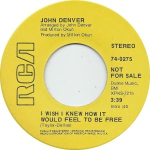 RCA 1969 OCT - 275 - DENVER JOHN DJ B