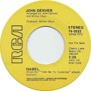 RCA 1970 MAR 70 332 - DENVER JOHN - DJ B