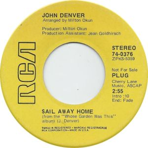 RCA 1970 SEP 376 - DENVER JOHN DJ A