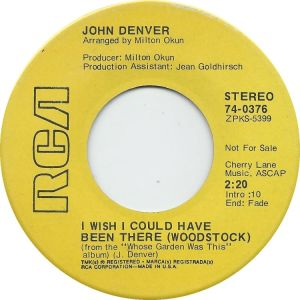 RCA 1970 SEP 376 - DENVER JOHN DJ B