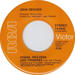 RCA 1971 MAR 445 - DENVER JOHN B