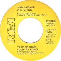 RCA 1971 MAR 445 - DENVER JOHN DJ A