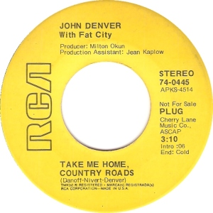 RCA 1971 MAR 445 - DENVER JOHN DJ A