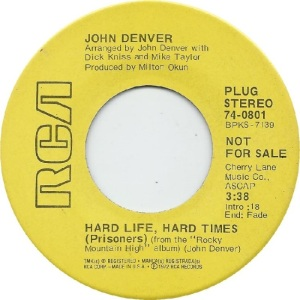 RCA 1972 AUG 801 - DENVER JOHN DJ A