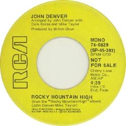 RCA 1972 NOV 829 - DENVER JOHN DJ A
