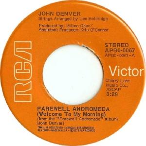 RCA 1973 AUG 67 - DENVER JOHN - A