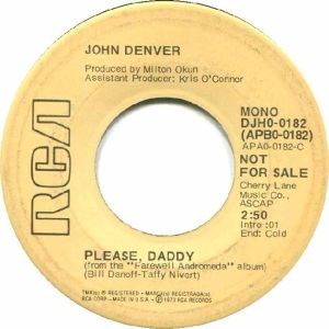 RCA 1973 NOV 182 - DENVER JOHN - DJ A