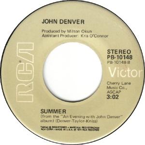 RCA 1974 DEC 10148 - DENVER JOHN - D