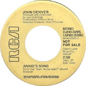 RCA 1974 MAY 295 - DENVER JOHN DJA