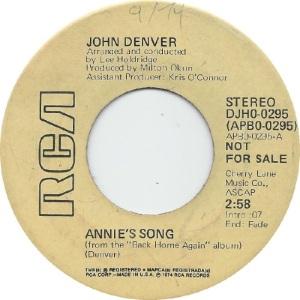 RCA 1974 MAY 295 - DENVER JOHN DJB