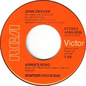 RCA 1974 MAY 295 - DENVER JOHN RA