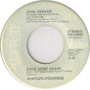 RCA 1974 SEP 10065 - DENVER JOHN A