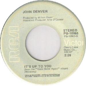 RCA 1974 SEP 10065 - DENVER JOHN B