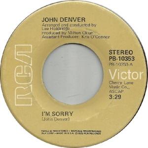 RCA 1975 08 - DENVER JOHN - A