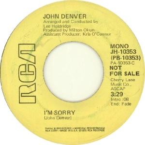 RCA 1975 08 - DENVER JOHN - DJ A