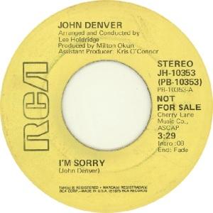 RCA 1975 08 - DENVER JOHN - DJ B