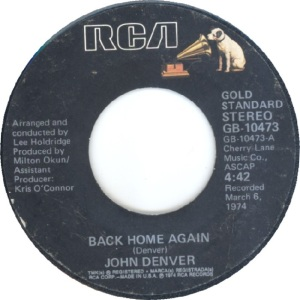 RCA 1975 11 - 10473 - GOLD STANDARD - DENVER JOHN A BW IT'S UP TO YOU