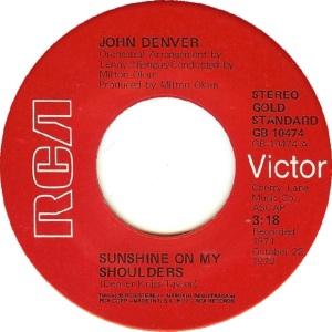RCA 1975 11 - 10474 GOLD STANDARD - DENVER JOHN A