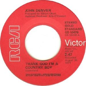 RCA 1975 11 - 10476 - GOLD STANDARD - DENVER JOHN A