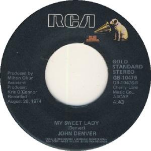 RCA 1975 11 - 10476 - GOLD STANDARD - DENVER JOHN D