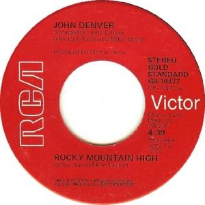 RCA 1975 11 - 10477 - GOLD STANDARD - DENVER JOHN A