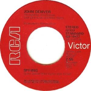 RCA 1975 11 - 10477 - GOLD STANDARD - DENVER JOHN B