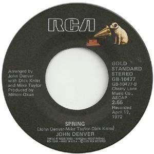 RCA 1975 11 - 10477 - GOLD STANDARD - DENVER JOHN D