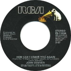 RCA 1977 08 - 11036 - DENVER JOHN A